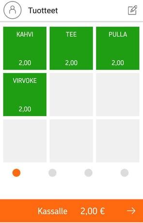 android-myyntinäkymä